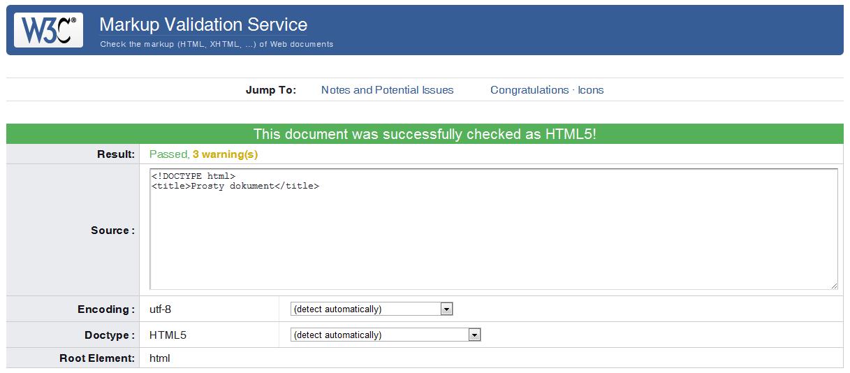 Prosty dokument HTML5