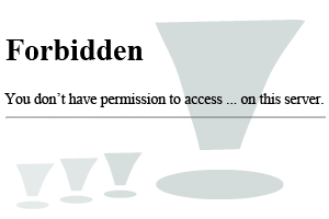 Forbidden You don't have permission to access on this server