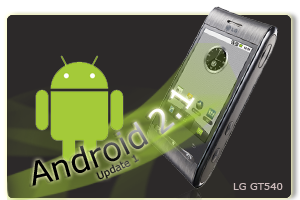 Aktualizacja telefonu LG GT540 (Swift) z Android 1.6 do 2.1 Update 1 (Eclair)