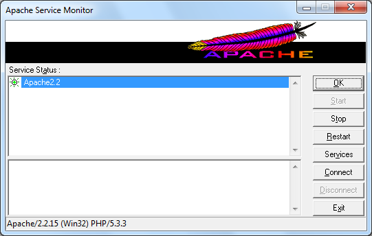 Restart Apache zrzut 2
