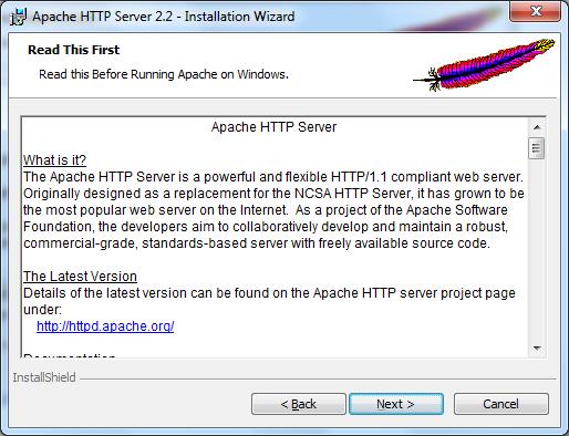 Instalacja Apache zrzut 3