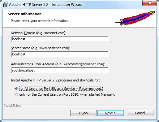 Instalacja Apache zrzut 4
