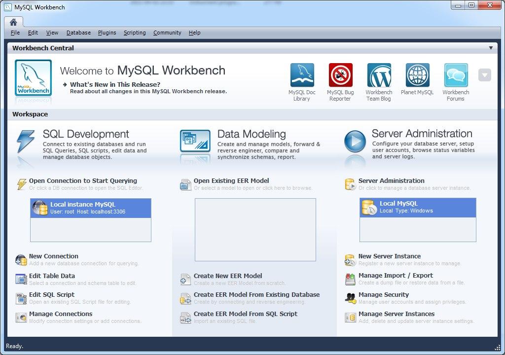 MySQL Workbench - logowanie
