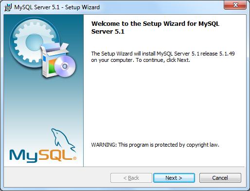 Instalacja MySQL zrzut 1