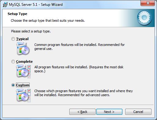 Instalacja MySQL zrzut 2