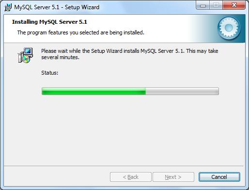 Instalacja MySQL zrzut 5