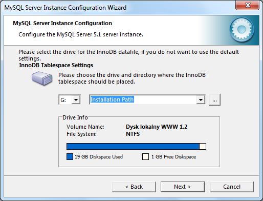 Instalacja MySQL zrzut 13