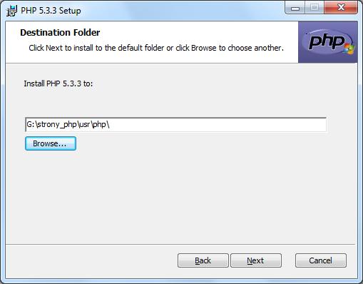 Instalacja PHP zrzut 3