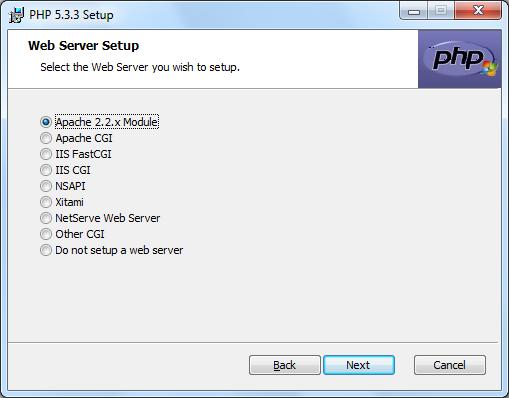 Instalacja PHP zrzut 4
