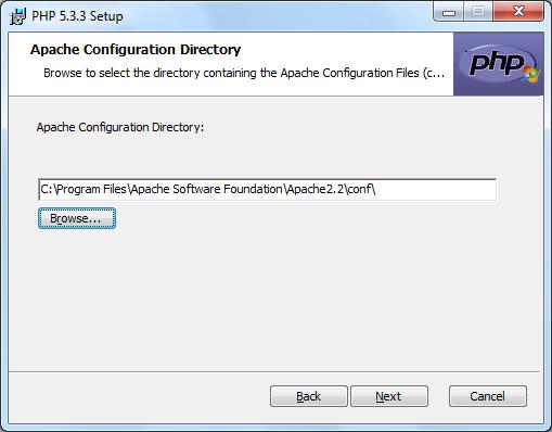 Instalacja PHP zrzut 5
