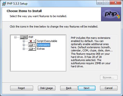 Instalacja PHP zrzut 6