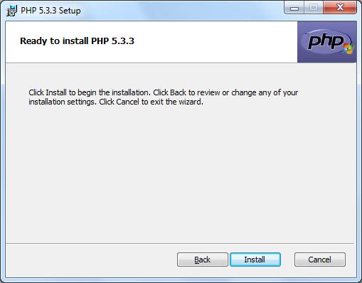 Instalacja PHP zrzut 7