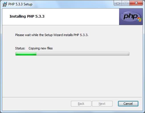 Instalacja PHP zrzut 8