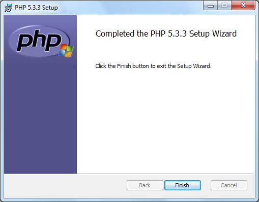 Instalacja PHP zrzut 9