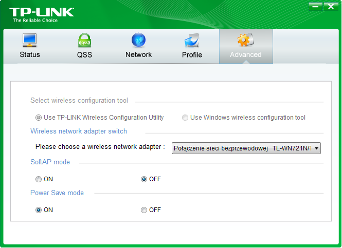 TP-LINK Utility - Soft AP mode ON
